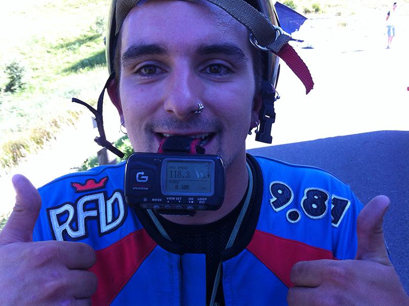 Mikel breaking 118 kph @ Peyragudes