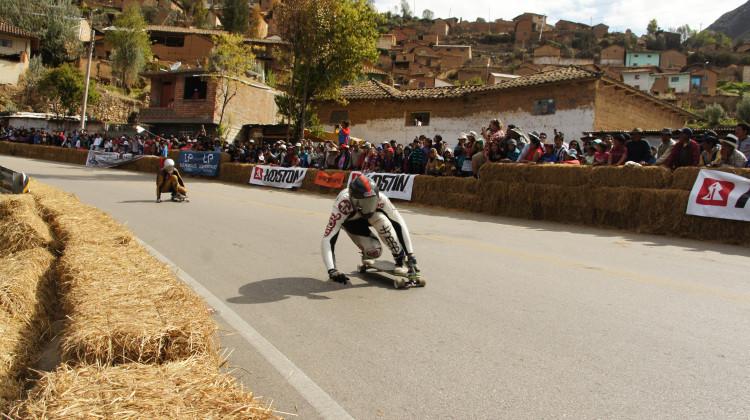 Kevin Reimer leading @ Valle del Downhill 2014