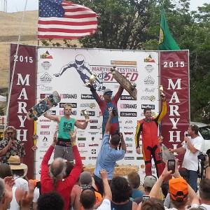 Classic luge podium MHFOS 2015