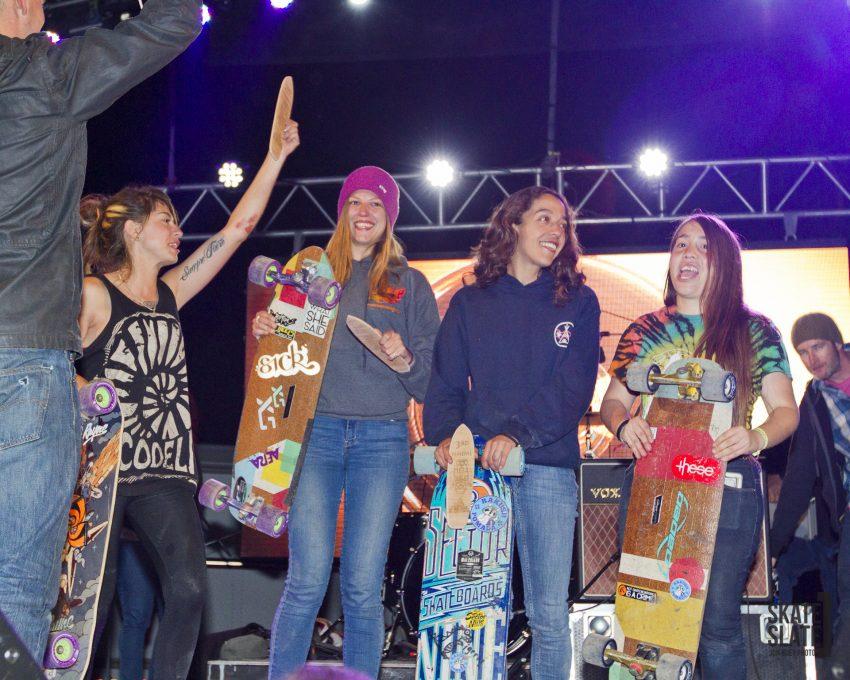 MLF Women podium - Photo by Jon Huey (SkateSlate)