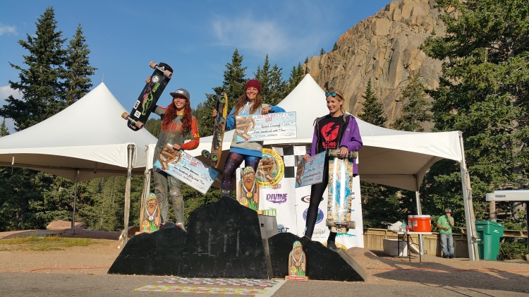 Womens podium @ Pikes Peak 2015