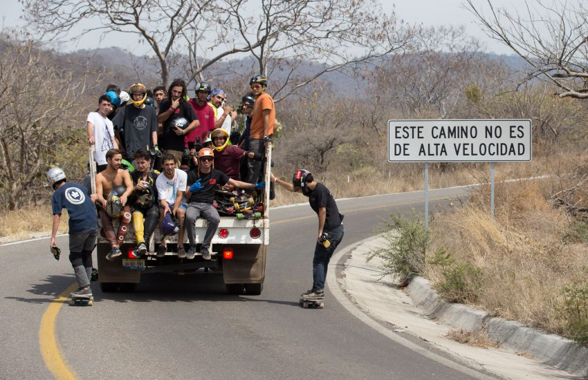 Rider uphill shuttle