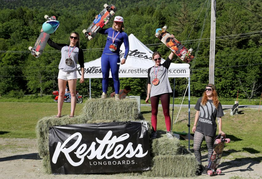 Women's Podium. Pic: Marion Ross