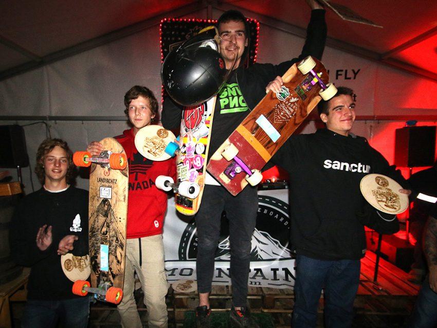 Almabtrieb podium juniors