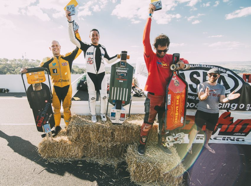 Luge podium, Newton's 2018