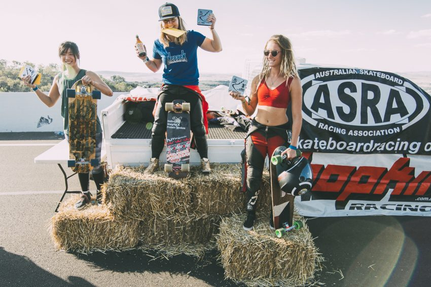 Womens Skateboard podium, Newton's 2018