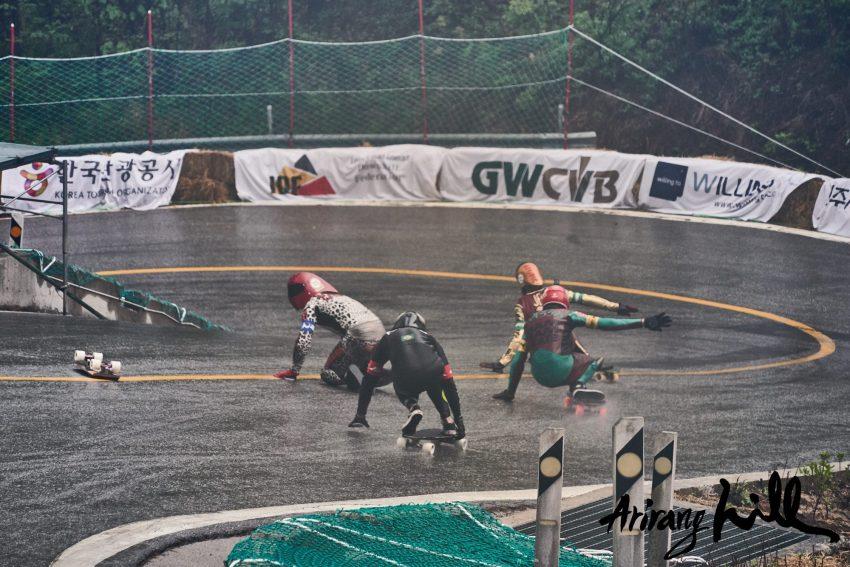 Daina crashes at Arirang 2018